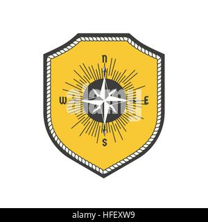 Maritime heraldic emblem - Stock Photo