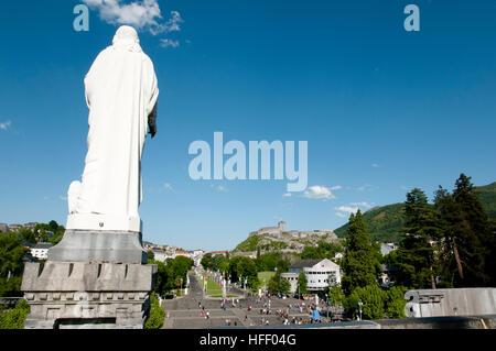 Our Lady of Lourdes Sanctuary - France - Stock Photo