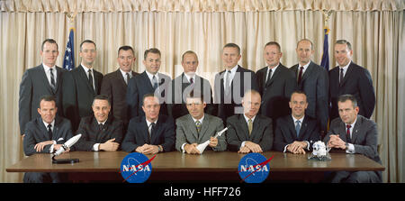 S63-01419 (1963) --- The first two groups of astronauts selected by the National Aeronautics and Space Administration - Stock Photo