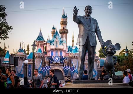 Disneyland 60th celebration, This year Disneyland celebrates its 60th aniversary of been open. - Stock Photo