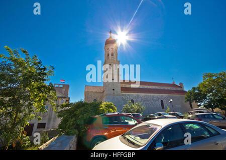 Betina on Murter island church, Dalmatia, Croatia - Stock Photo