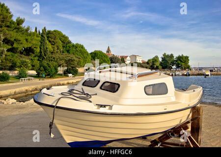 Village of Saint Filip and Jacob waterfront in Dalmatia, Croatia - Stock Photo