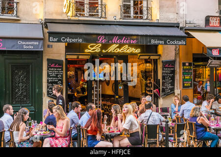 bar, creperie le moliere - Stock Photo