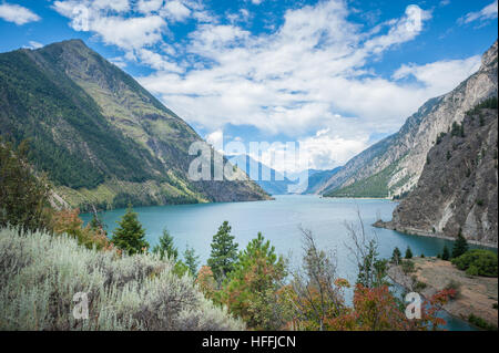 View of Seton Lake, British Columbia, Canada - Stock Photo