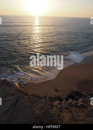 waves on a smooth beach - Stock Photo