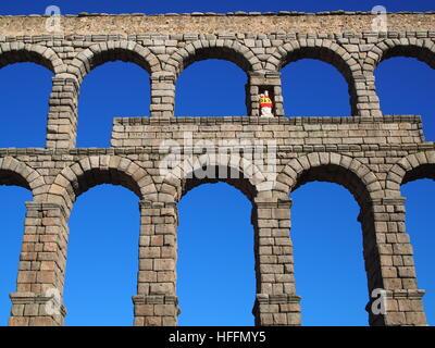 Roman Architecture Arches spain, segovia, stonework, the, roman, aqueduct, landmark stock