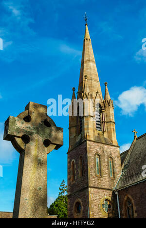 UK, Scotland, Fort William, View of the Saint Andrew's Church. - Stock Photo
