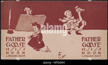 Father Goose, his book, L. Frank Baum - Stock Photo