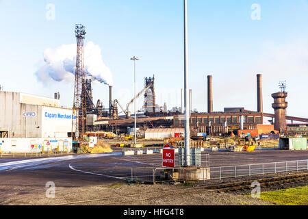 British steel Scunthorpe, Scunthorpe steelworks Iron and Steel Industry factory Scunthorpe town North Lincolnshire, - Stock Photo