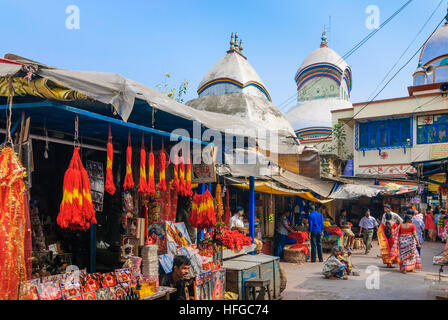Kolkata (Calcutta, Kalkutta): Hindu Kali Temple in Kalighat, West Bengal, Westbengalen, India - Stock Photo