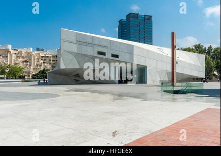 Israel, Tel Aviv-Yafo, museum new wing - Stock Photo