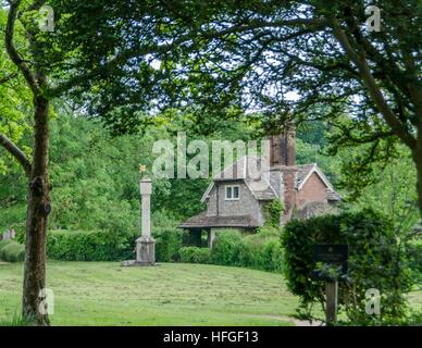 Unique cottages in Blaise Hamlet, Bristol, England - Stock Photo