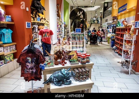 The gift shop in the Natural History Museum, London Stock Photo ...