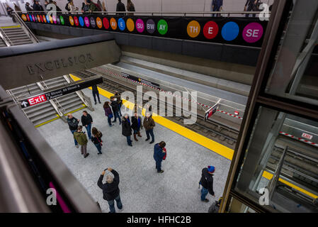 New York, USA. 1st Jan, 2017. After nearly a century the Second Avenue Subway finally opened to the public on New - Stock Photo