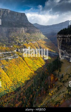 Mountains view in autumn. - Stock Photo