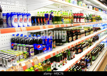 Leading soft drink brands in the United Kingdom 2017, by convenience sales value