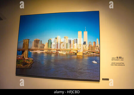 Interior of the 9/11 National Memorial Museum in New York City. - Stock Photo