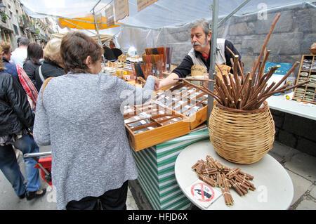 Sant Ponç fair. Barcelona. Catalonia. Spain - Stock Photo