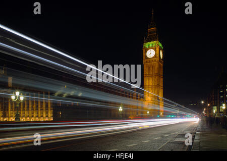 The Houses of Parliament, Big Ben and The Queen Elizabeth Tower, Westminster Bridge London UK - Stock Photo