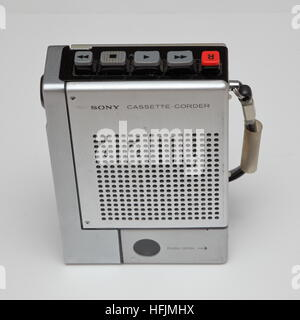 Sony TC-55 portable cassette tape player / recorder from 1970s - Stock Photo