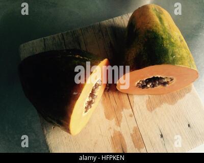 A good ripe papaya, sweet and tasty. - Stock Photo