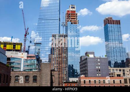Manhattan New York City NYC NY Chelsea Hudson Yards urban development 10 Hudson Yards Coach Tower office building - Stock Photo