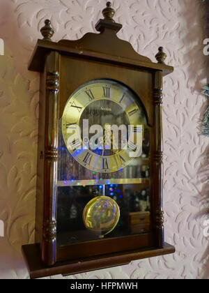 a vintage wall clock stock photo