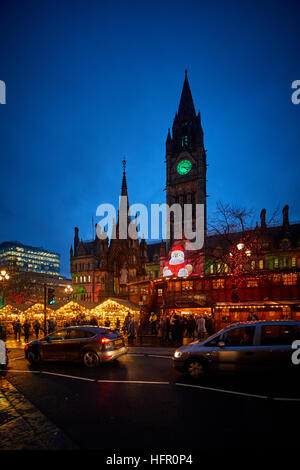 Manchester German European Christmas Markets   Christmas winter festive festival Christian holidays happy occasion - Stock Photo