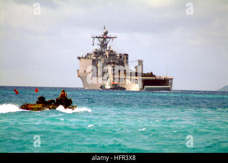 060322-N-4772B-050 Sea of Japan (March 22, 2006) - An Amphibious Assault Vehicle (AAV) assigned to the 31st Marine - Stock Photo