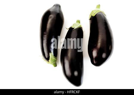 Eggplant or Aubergine (Solanum melongena) - Stock Photo