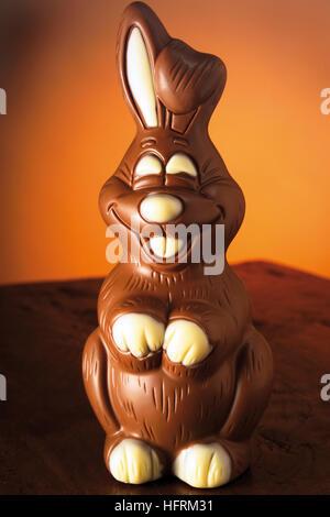 Chocolate Easter bunny - Stock Photo
