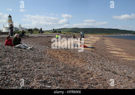 Chanonry Point Moray Firth Black Isle - Stock Photo
