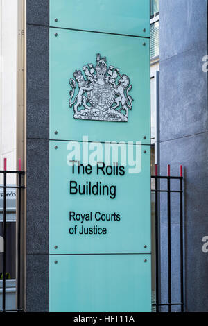 The Rolls Building, Royal Courts of Justice, London, England, U.K. - Stock Photo