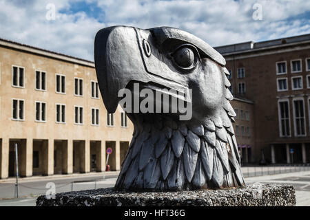 Berlin Germany Nazi Eagle Head Outside Tempelhof Airport