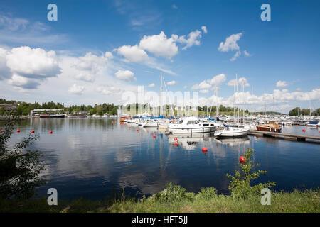Harbour scene Lappeenranta Finland - Stock Photo