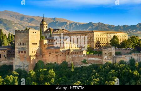 Alhambra Palace, Granada, Andalucia, Spain - Stock Photo