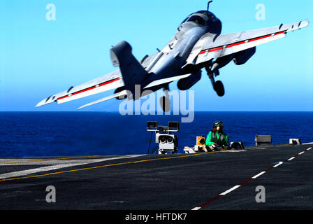 070123-N-3729H-136 Pacific Ocean (Jan. 23, 2007) - An EA-6B Prowler assigned to the 'Yellowjackets' of Tactical - Stock Photo