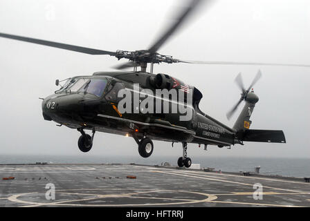 070625-N-5067K-015 CORAL SEA (June 25, 2007) - An SH-60F Seahawk, attached to the 'Warlords' of Helicopter Antisubmarine - Stock Photo