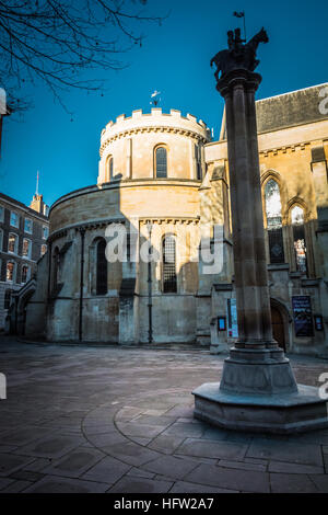 The Temple Church Landon - a 12th-century church in the Inns of Court, London, UK - Stock Photo