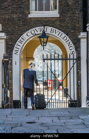 Entrance to Mitre Court Buildings, Inns of Court, London, UK, - Stock Photo