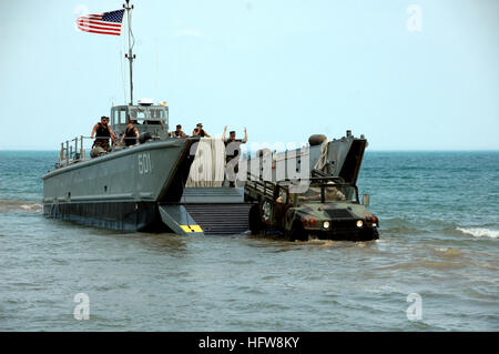 080607-N-8848T-127 NAVAL STATION GREAT LAKES, Ill. (June 7, 2008) Landing Craft Mechanized 501 (LCM-501) and the - Stock Photo