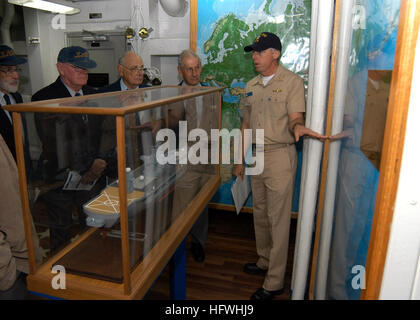 050702-N-9860Y-018 Brisbane, Australia (July 2, 2005) - Public Affairs Officer aboard USS Blue Ridge (LCC 19), Lt. - Stock Photo