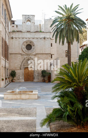 Palma, mallorca, Spain. The courtyard of the church La Lonja de los Mercaderes de Palma de Mallorca - Stock Photo