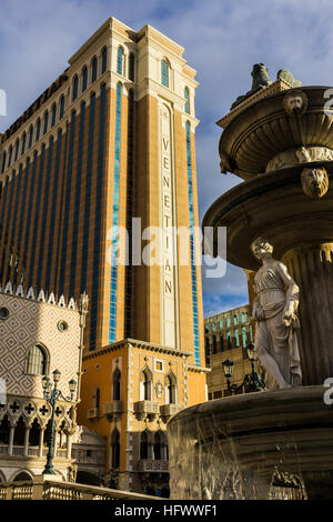 Las Vegas - Circa December 2016: The Venetian Resort Hotel Casino. The Venetian is owned and operated by Las Vegas - Stock Photo