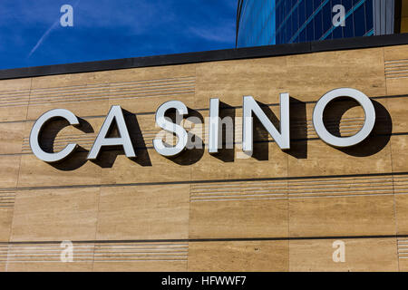 Las Vegas - Circa December 2016: Casino Entrance Sign at the M Resort I - Stock Photo