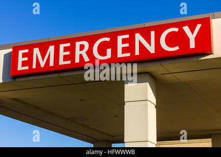 Red Emergency Entrance Sign for a Local Hospital XIII - Stock Photo