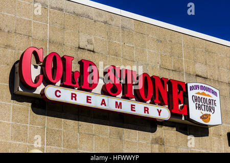 Lafayette - Circa December 2016: Cold Stone Creamery Ice Cream Parlor Location. Cold Stone is owned and operated - Stock Photo