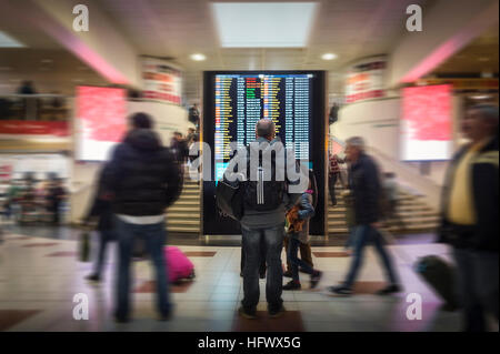 departure lounge at Gatwick Airport - Stock Photo