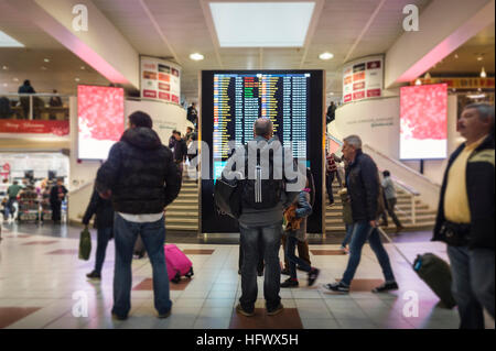 airport departure lounge - Stock Photo