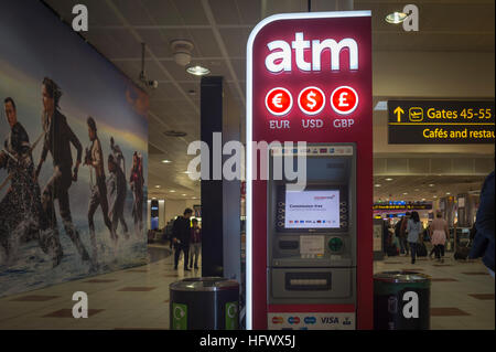 Atm Machine For Cash Money And Currency Exchange At Schiphol Plaza Stock Photo 102251786 Alamy